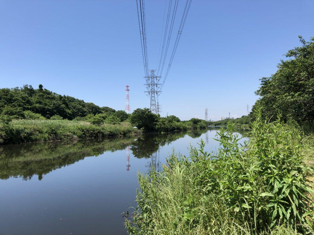 花見川下流の写真